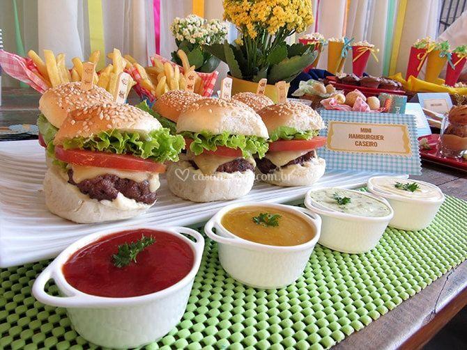 Mini hambugueres artesanal