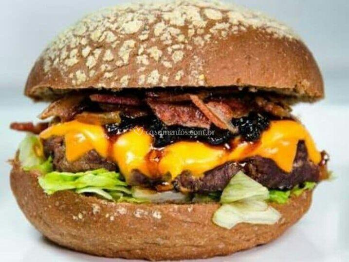 Hambúrguer gourmet artesanal