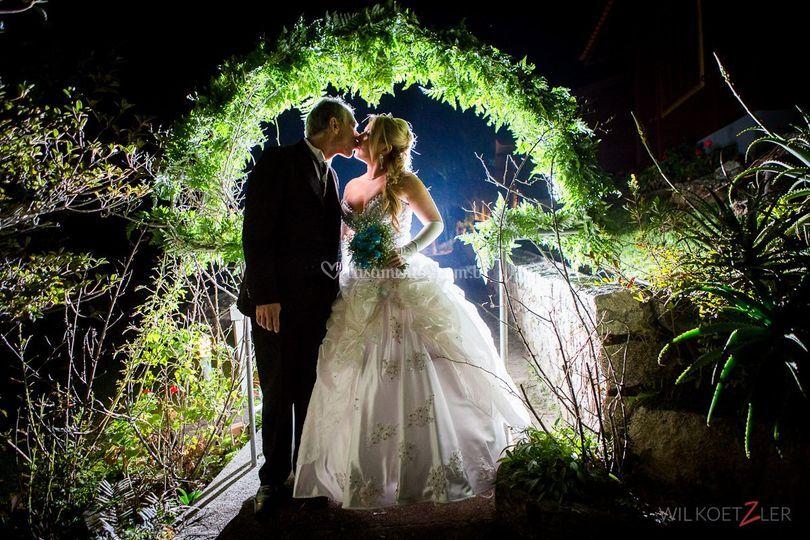 Arco da entrada do casamento