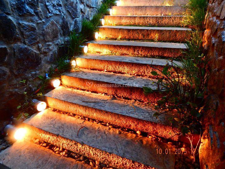 Iluminação de escada