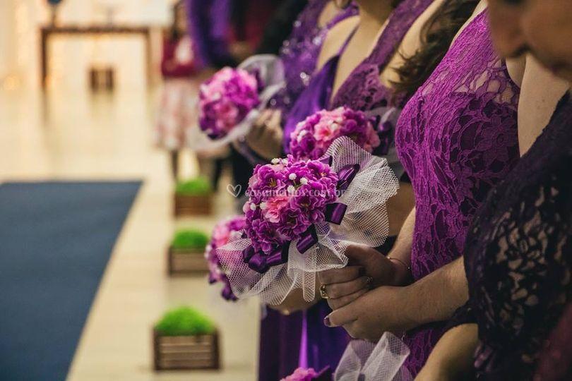 Recebendo os noivos