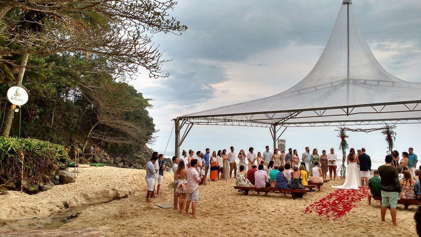 Casamento com tenda