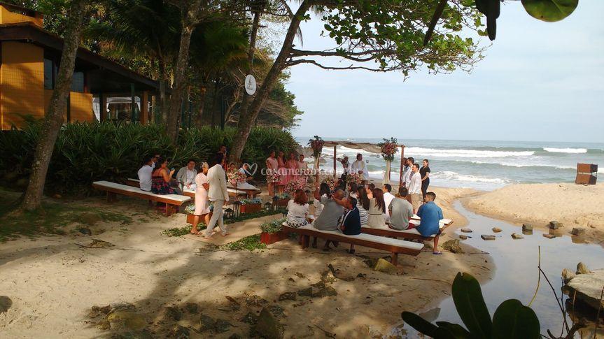 Casamento praia lateral