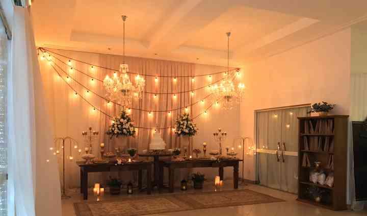 Salão de festas-mesa principal