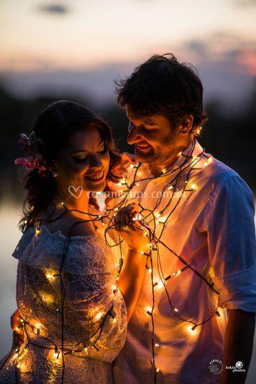 Pre casamento com luzes