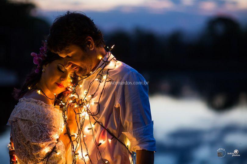 Pre wedding com luzes