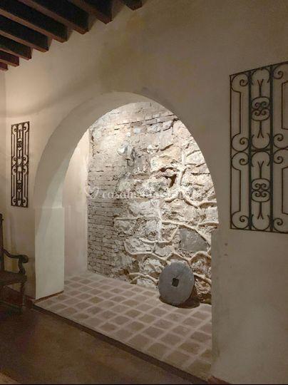 Detalhes do salão do porão