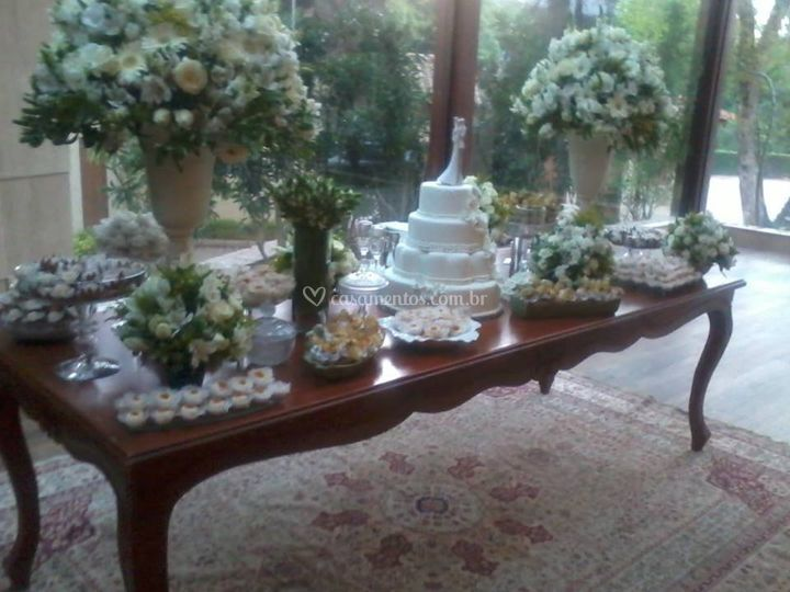 Mesa de doce da noiva