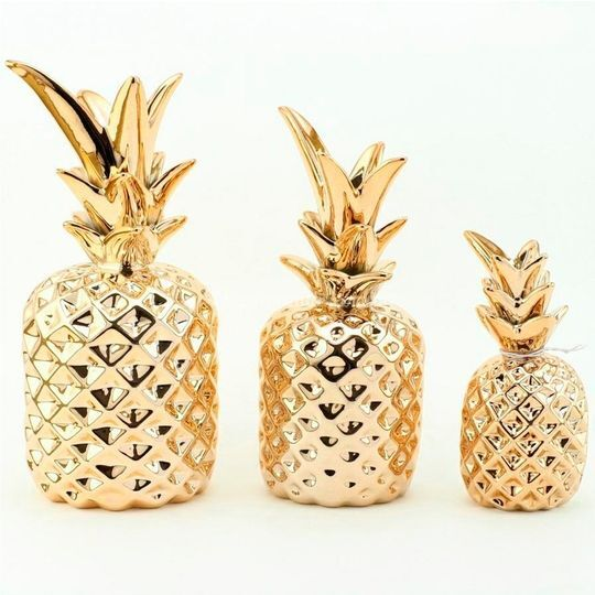 Conjunto 3 peças abacaxi ceram