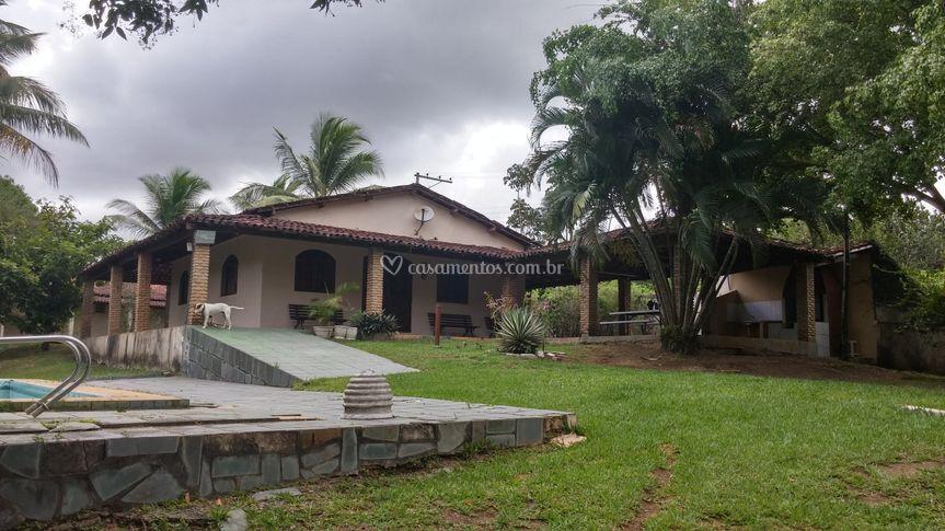 Frente da casa principal