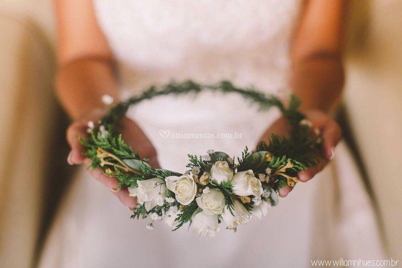 Grinalda noiva Alice Acosta