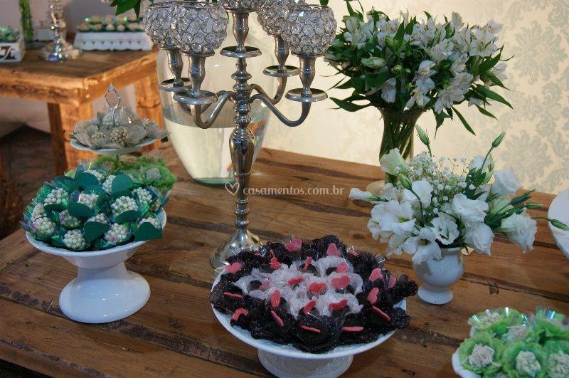 Decoração mesa dos doces