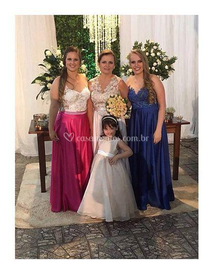 Noiva, filha e daminha