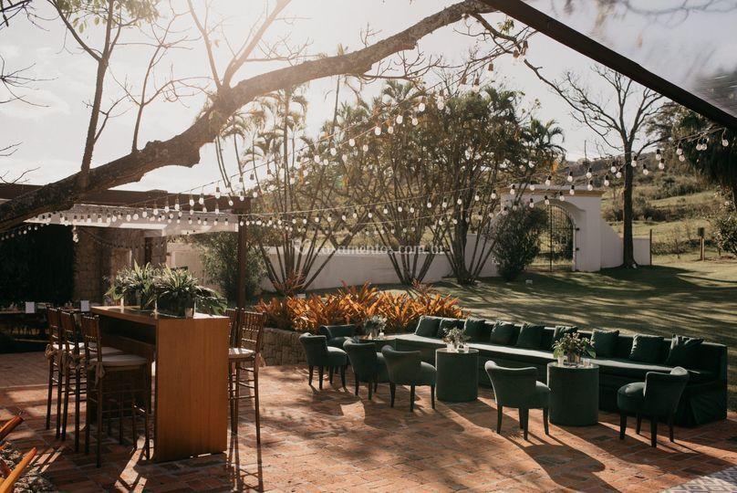 Lounge anexo ao jardim