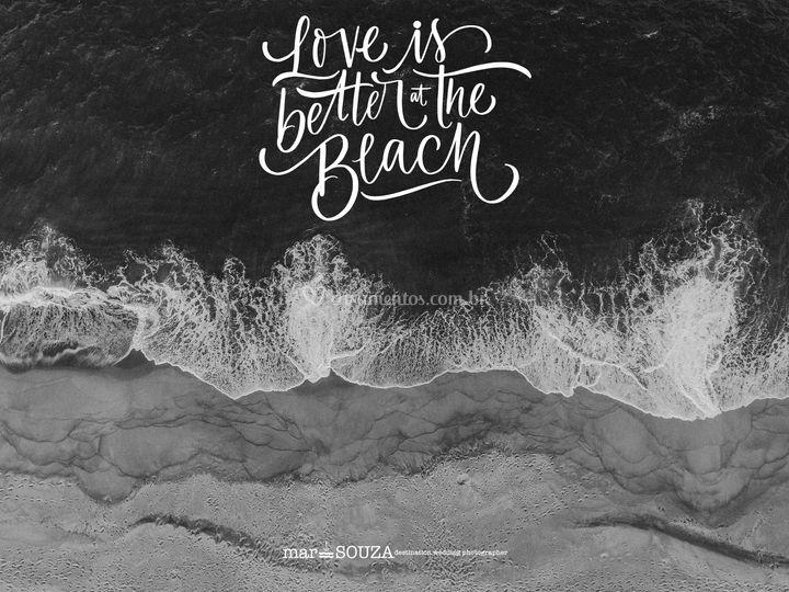 O amor é melhor na praia