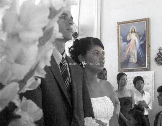 O momento da cerimônia