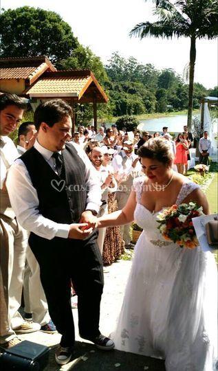 Vista da entrada da noiva