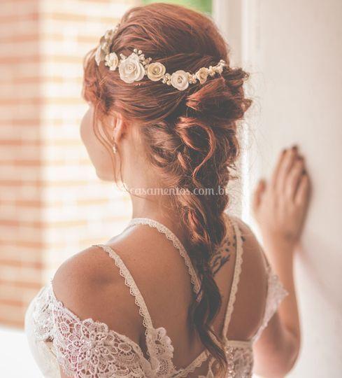 Tiara de noiva aflorar