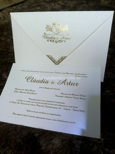 Convite Claudia e Artur