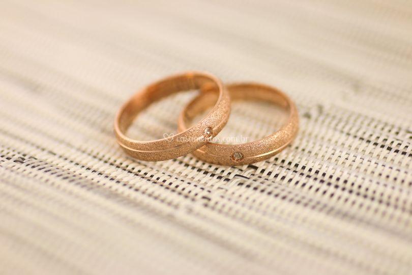 Par de alianças em Ouro Rosê