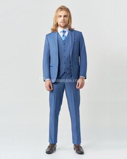 Terno Slim Fit Azul 36382