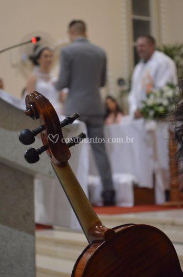 Violino na cerimônia