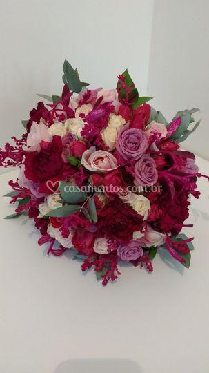 Mix de flores marsala