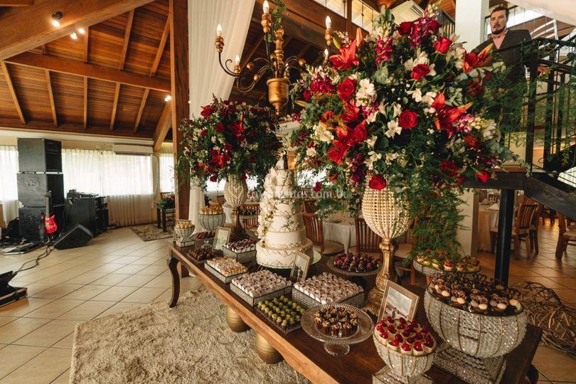 Mesa de doces clássica