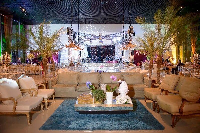 Decoração lounges da recepção