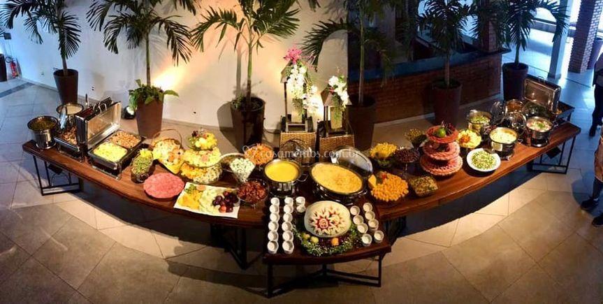 Buffet mesa de buteco