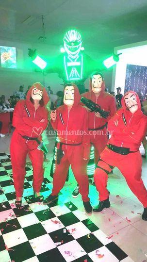 Dançarinos la casa de papel