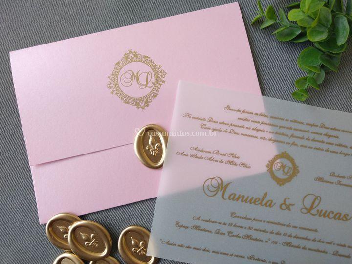 Convite Rose Gold