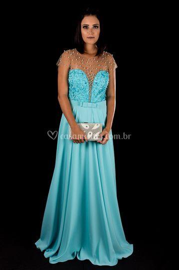 Vestido Azul Tiffany FinoTraje
