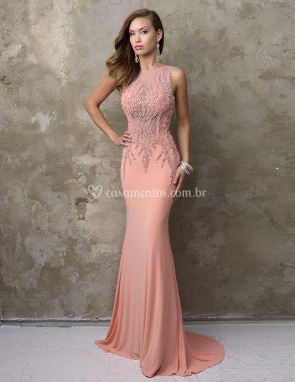 Vestido Rosa Fino Traje