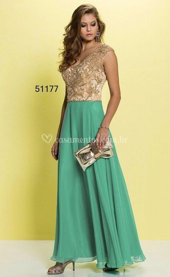Vestido Verde Fino Traje