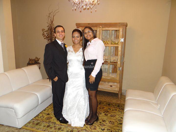 Assessorando os noivos