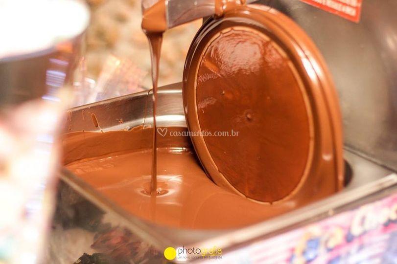 Casscata de chocolate