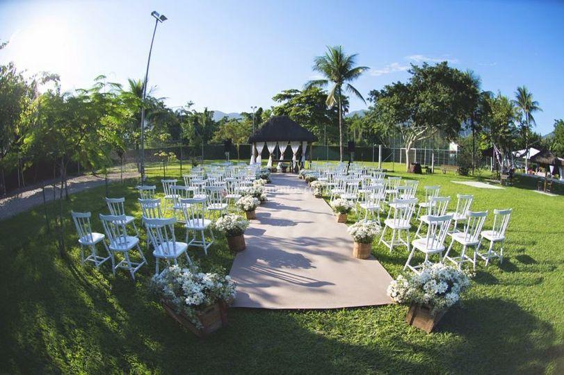 Cerimônia ao ar livre