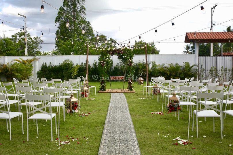 Área verde decorada