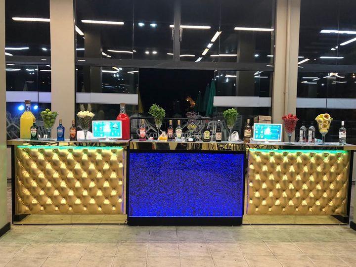 Bar dourado + bolha