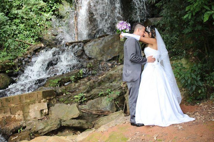 Casamento em cachoeira