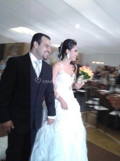 Está linda no dia do casamento