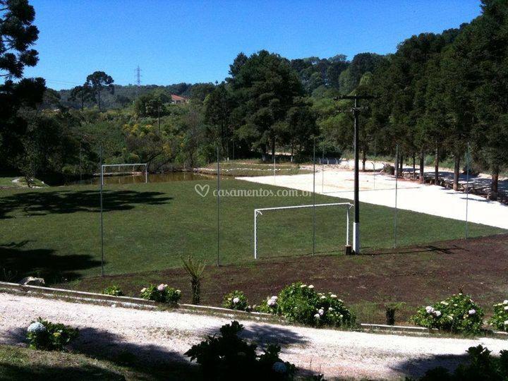 Campo para eventos esportivos