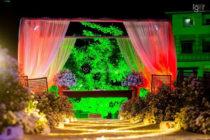 Caminho da noiva e iluminação