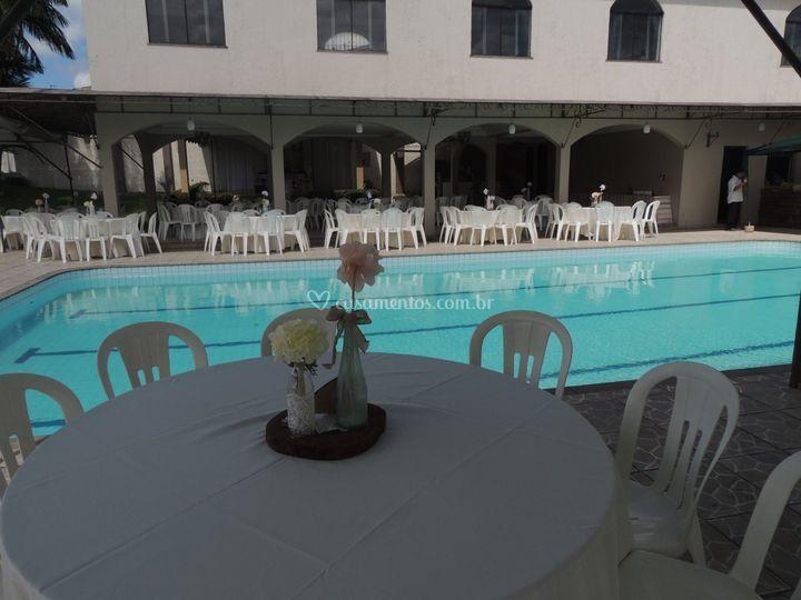 Visão da piscina