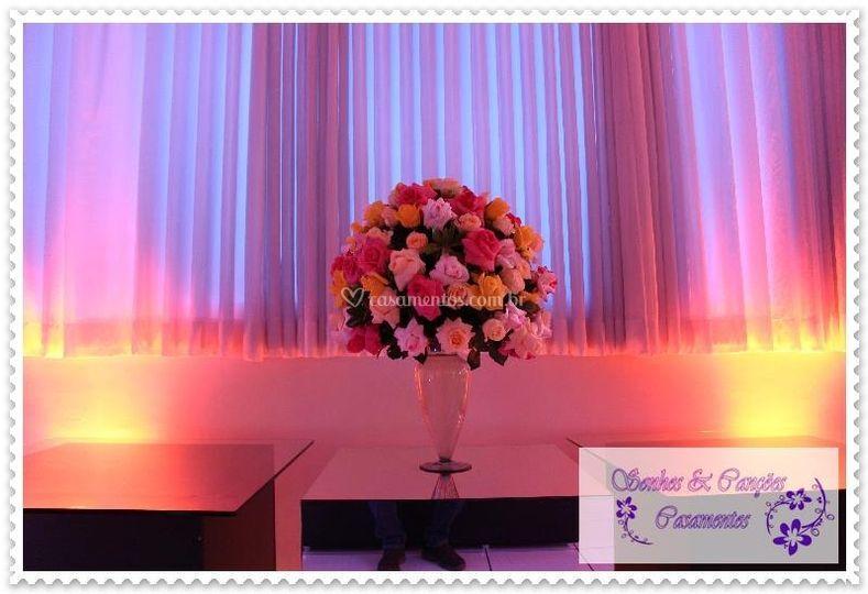 Casamento Rosa , Amarelo e Cha
