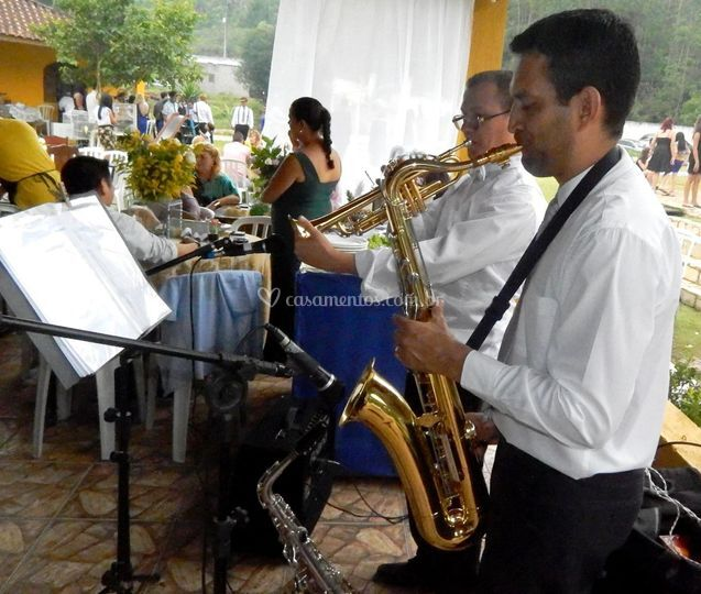 Recepção Sax e trompete
