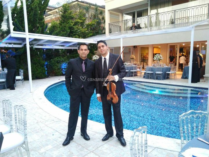 Jantar com piano e violino