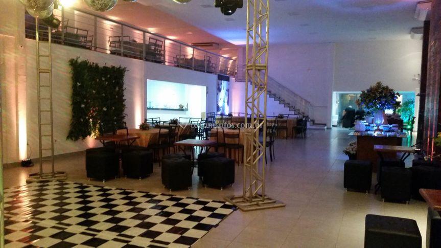 Espaço central do salão.