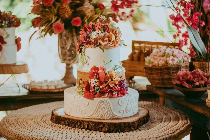 Detalhes da mesa bolo e doces